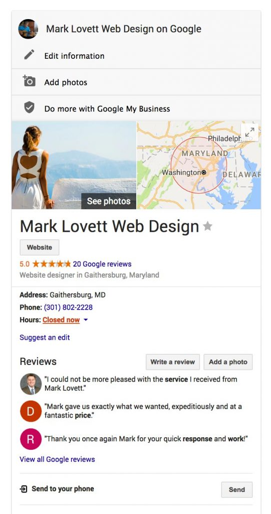 image-Google Reviews Mark Lovett Design