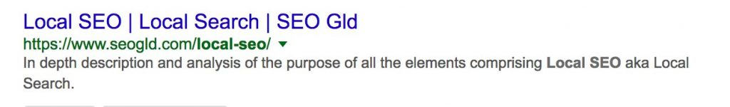 Snippet example - SEO Gld